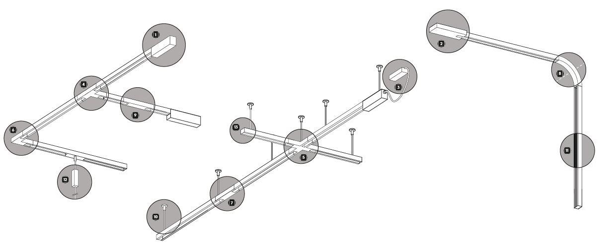 Exemple schéma rail DUOLINE TRIO